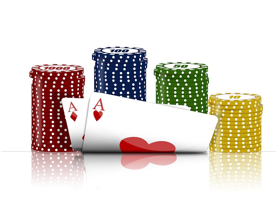 kort och marker Sveriges Poker